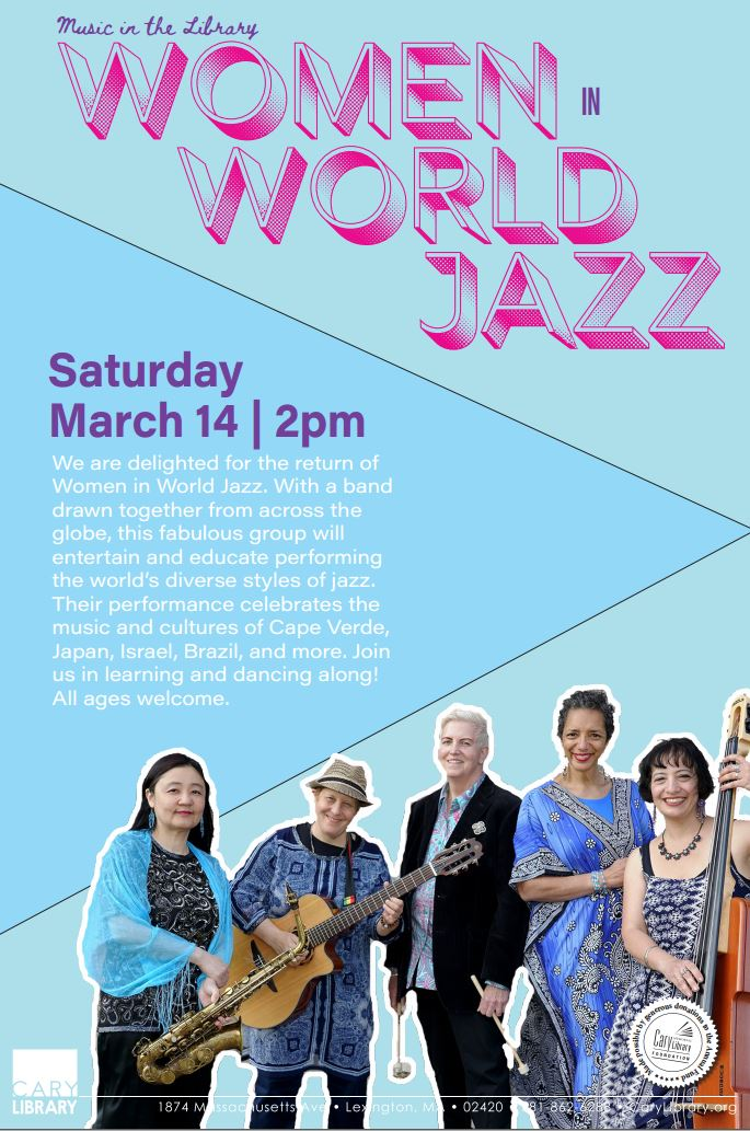 Lexington poster - women in world jazz