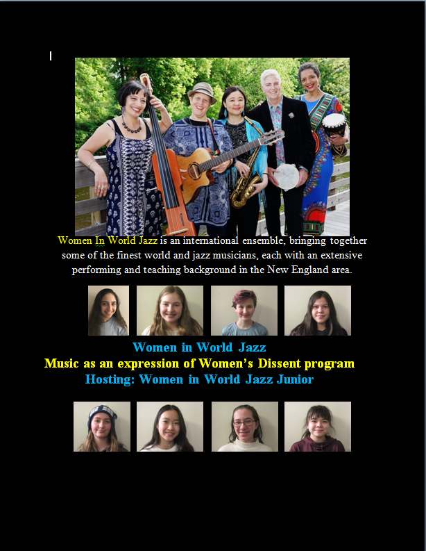 Virtual concert flyer Somerville Library